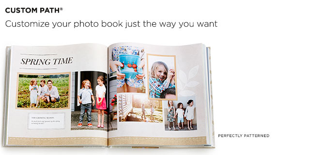 You customize your photobook-page by page