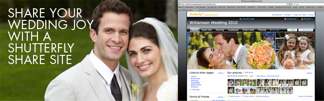 Share Your Wedding Joy With A Shutterfly Share Site